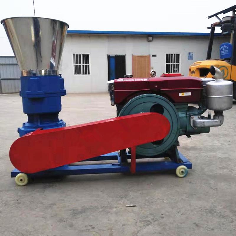 Diesel powered feed pellet mill