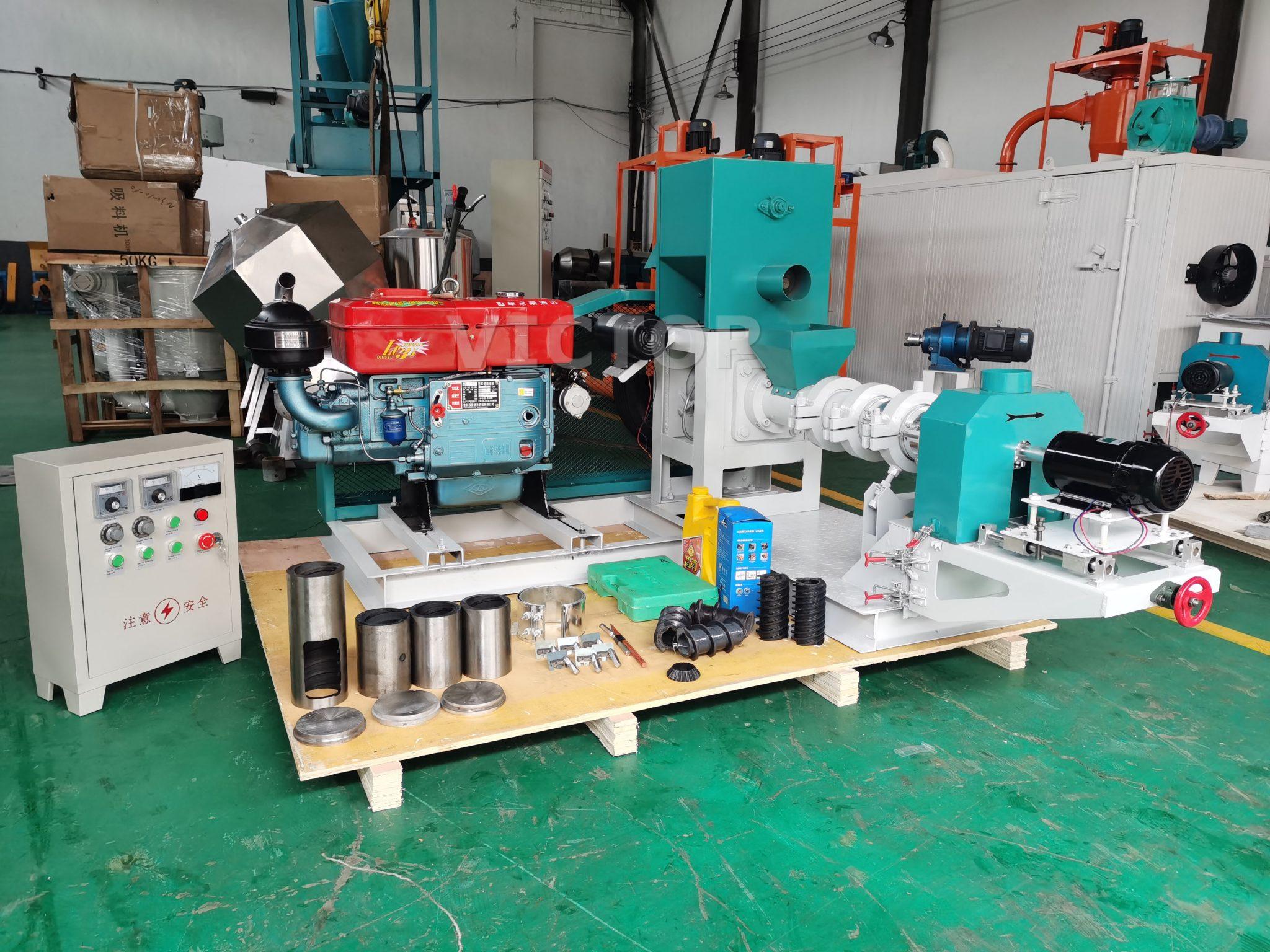 diesel engine fish feed machine